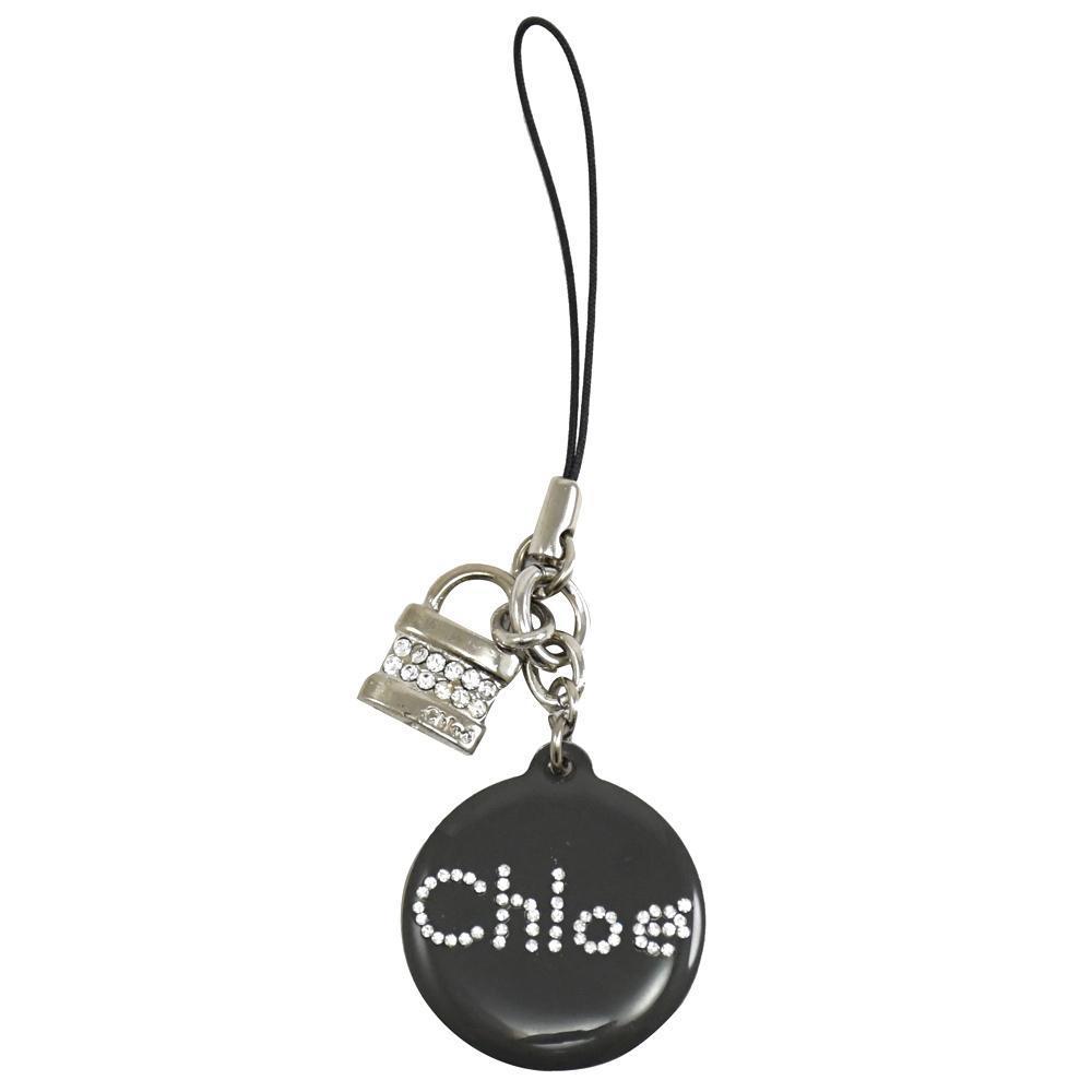 【Chloé 】新款 亮麗水鑽鎖頭手機吊飾