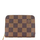 Louis Vuitton LV N63070 棋盤格紋信用卡拉鍊零錢包