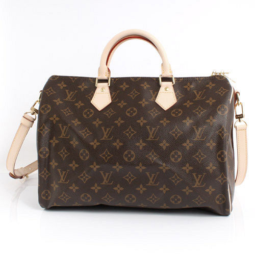 Louis Vuitton LV M41111 M40392 Speedy 35 經典花紋附背帶手提包_現貨