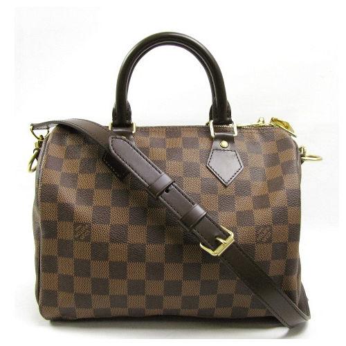 Louis Vuitton LV N41368 N41181 Speedy 25 時尚經典棋盤格紋手提包(附背帶)_預購