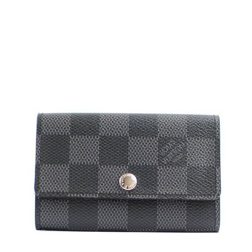 Louis Vuitton LV N62662 Damier 黑棋盤格紋六孔鑰匙包_ 預購