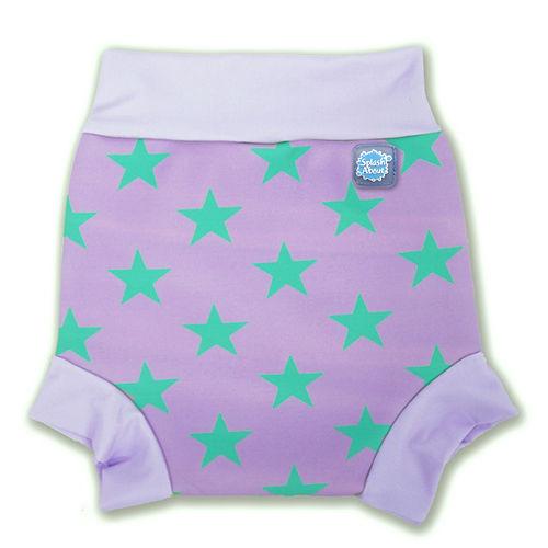 潑寶 Splash About - Happy Nappy 游泳尿布褲-粉紫滿天星