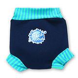 潑寶 Splash About - Happy Nappy 游泳尿布褲-海軍藍 / 珊瑚綠條紋