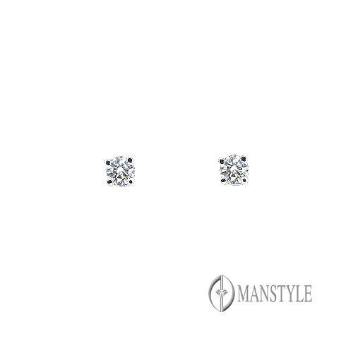 MANSTYLE 經典 0.10ct 鑽石耳環