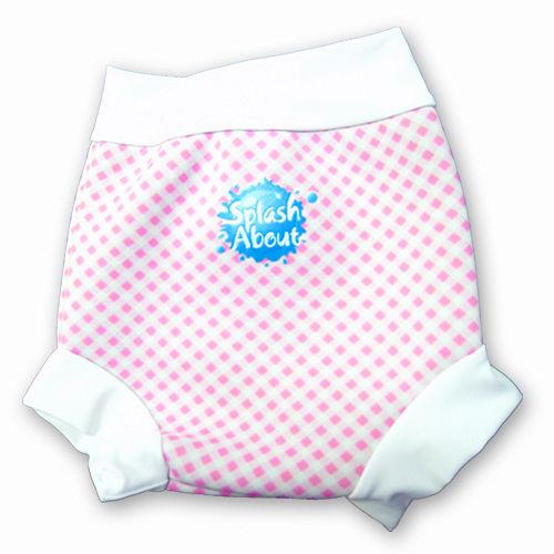 潑寶 Splash About - Happy Nappy 游泳尿布褲-粉紅格紋