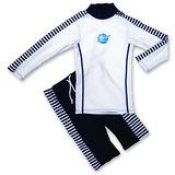潑寶 Splash About - UV Close Fit 兒童抗UV游泳套裝 - 藍白條紋