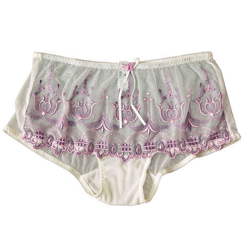 【Sorella欣姿芳】網紗平口刺繡小褲 紫 M.L C2GS4027-PUR