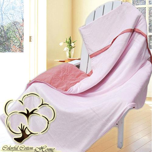 銀離子抗菌雲絲多用途毯被 粉色