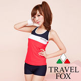 【Travel Fox夏之戀】海軍風實穿二件式泳衣C13703-3L