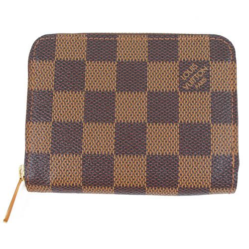 Louis Vuitton LV N63070 棋盤格紋信用卡拉鍊零錢包_預購