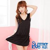 【夏之戀SUMMERLOVE】希臘風 氣質外搭連身裙E13709-黑