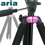 【Aria】黑金鋼四節鋁合金專業型腳架AA-722ST(紅色)-加送八抓章魚桌上型腳架