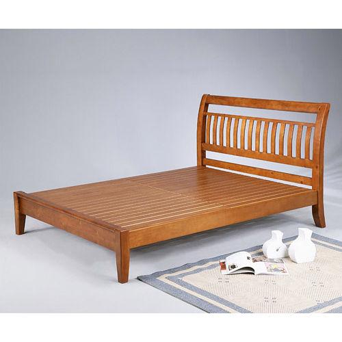 曼尼5尺實木雙人床