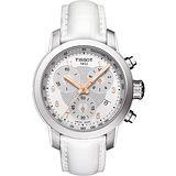 TISSOT PRC 200 ladies 唯美時尚計時腕錶-銀X白 T0552171603201