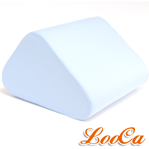 【LooCa】吸濕排汗萬用三角靠墊(藍)1入