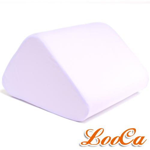 【LooCa】吸濕排汗萬用三角靠墊(紫)1入