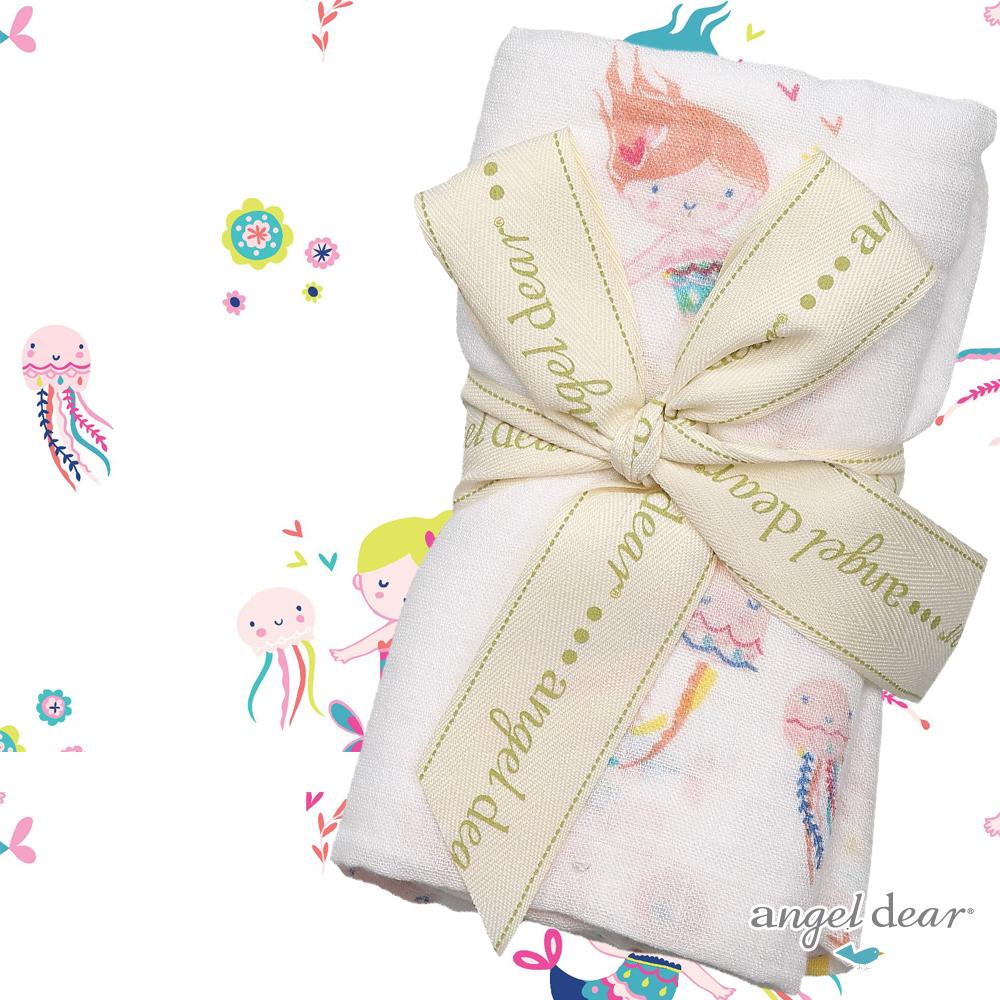 美國 ANGEL DEAR 竹纖維嬰幼兒包巾 (小美人魚)