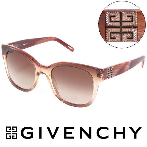 GIVENCHY 法國魅力紀梵希都會玩酷大理石紋造型太陽眼鏡(紅棕) GISGV8260D83