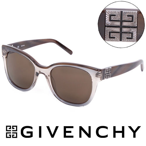 GIVENCHY 法國魅力紀梵希都會玩酷大理石紋造型太陽眼鏡(褐) GISGV8260AG1