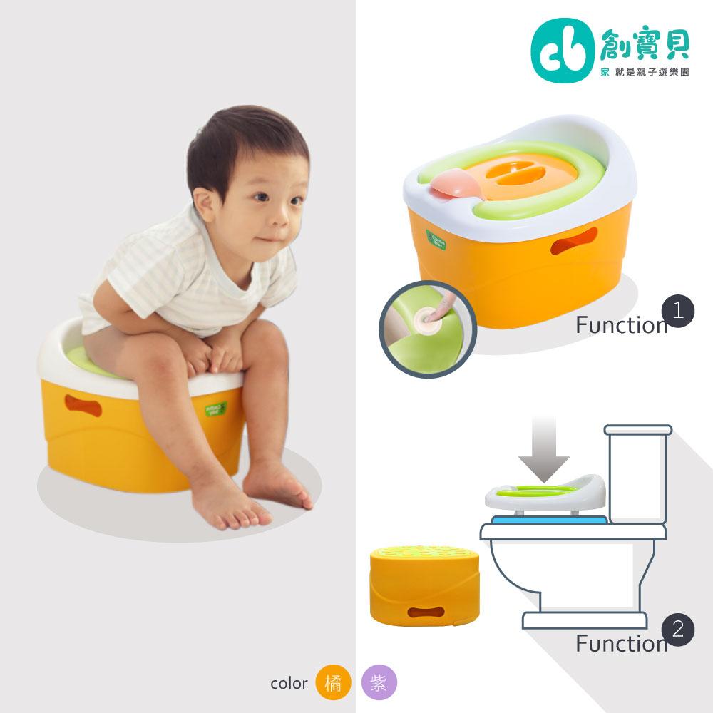 Creative Baby 多功能三合一學習馬桶-紫色 ★加贈-護手霜