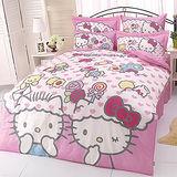 【享夢城堡】HELLO KITTY 我的最愛系列-雙人純棉六件式床罩組