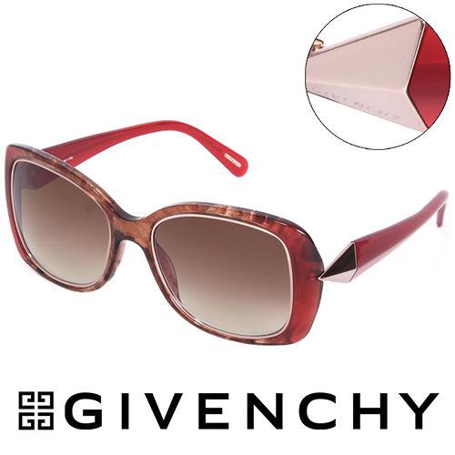 GIVENCHY 法國魅力紀梵希時尚幾何美學風格太陽眼鏡(紅) GISGV8290AH7