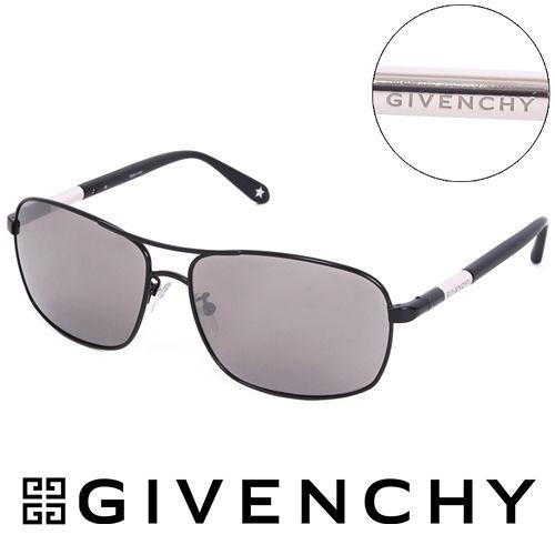 GIVENCHY 法國魅力紀梵希都會玩酷飛行員復古太陽眼鏡(黑) GISGV4110531