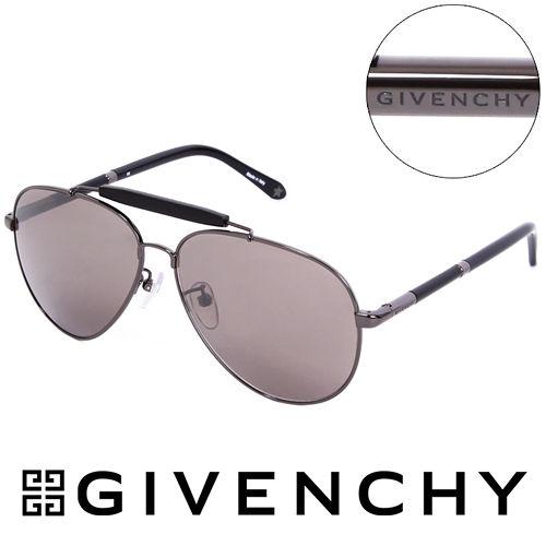 GIVENCHY 法國魅力紀梵希經典LOGO都會傳奇飛行員太陽眼鏡(黑) GISGV461568X