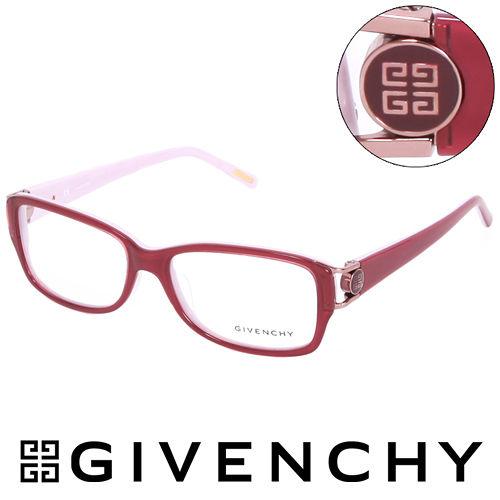 GIVENCHY 法國魅力紀梵希經典LOGO都會時尚光學眼鏡(紅) GIVGV74609HH