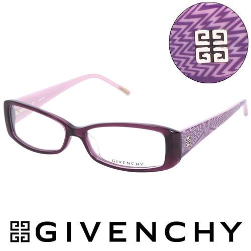 GIVENCHY 法國魅力紀梵希 幾何美學光學鏡框 紫  GIVGV741097T