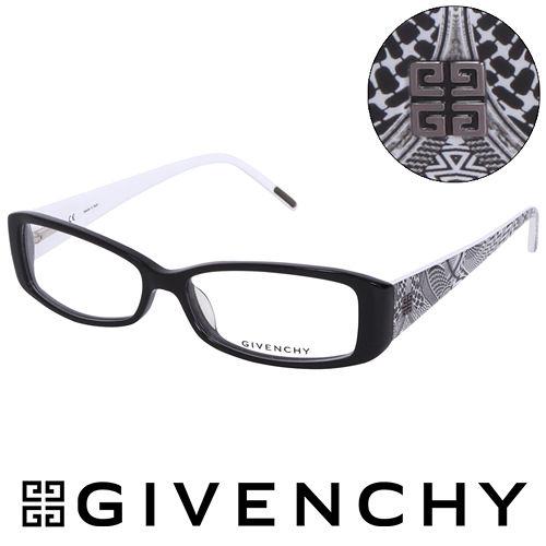 GIVENCHY 法國魅力紀梵希北非狩獵風格時尚平光眼鏡(黑) GIVGV7410700