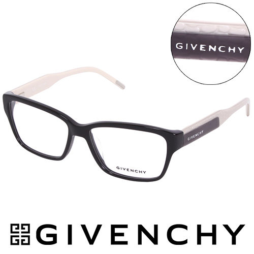 GIVENCHY 法國魅力紀梵希浪漫蛇紋造型平光眼鏡(米白) GIVGV797700V
