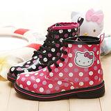 【童鞋城堡】Hellokitty三麗鷗限量點點普普風Dr.Martens馬丁鞋{專櫃鞋款}713579