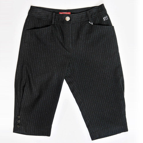 【FANTINO】女裝 超顯瘦直條羊毛短褲(黑)083309