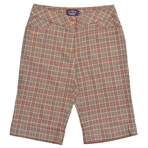 【FANTINO】女裝 復古格紋短褲(桔)723611