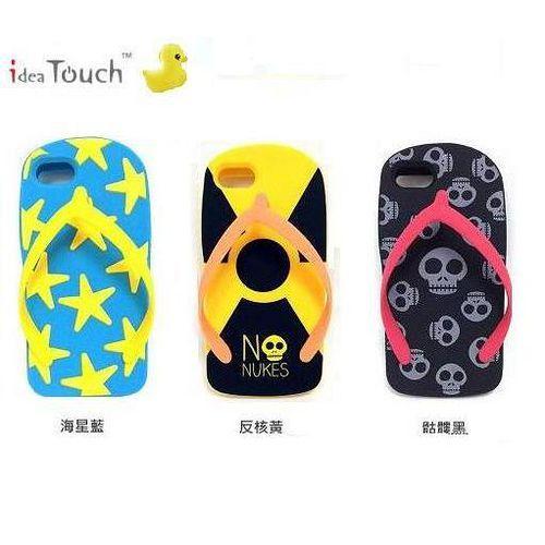 idea touch iphone5 i5S i5C 夾腳拖手機套 人字拖手機套 反核 海