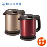 【TIGER虎牌】0.8L 時尚造型快煮壺(PCD-A08R)買就送虎牌360CC保溫保冷杯(隨機出貨)