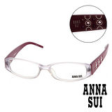 【Anna Sui】安娜蘇  名模粉鑽幾何時尚精品光學眼鏡(-酒紅-AS10203)