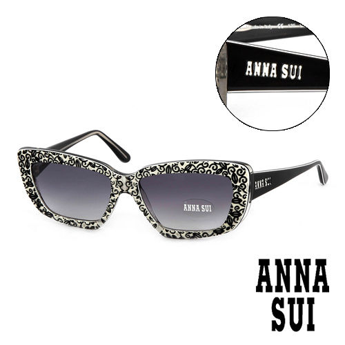 Anna Sui 日本安娜蘇 魔幻時尚立體精雕造型太陽眼鏡(黑) AS52601