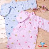 【聖哥-明日之星Newstar】MIT嬰幼兒鋪棉和服長袍-厚-秋冬-綁帶式腰帶-藍、粉紅-優雅精緻-暖暖親膚-超好穿貼心設計