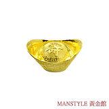 Manstyle 壽字黃金元寶 (3錢)