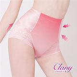 【可蘭霓Clany】高腰無痕透氣緹花M-2XL三角提臀褲 高雅紅 1907-32