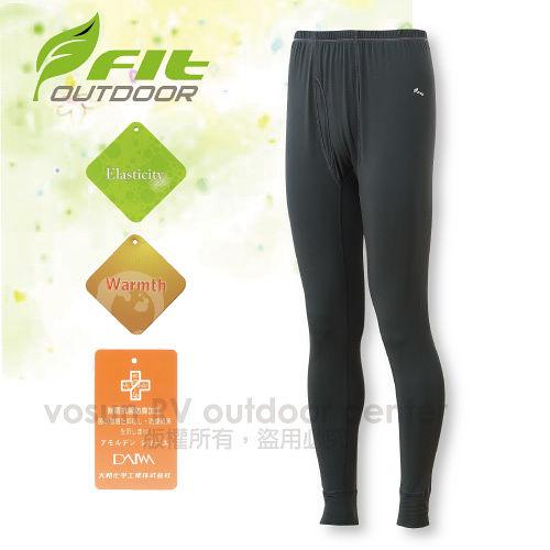 【FIT】男新款 遠紅外線合身保暖內褲/內搭褲.保暖長褲.衛生褲.刷毛褲/高彈性、韌度強、伸展性佳、具抗風性、保暖/鐵礦灰 EW1601