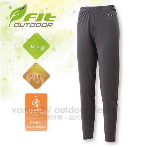 【FIT】女新款 遠紅外線合身保暖內褲/內搭褲.保暖長褲.衛生褲.刷毛褲/高彈性、韌度強、伸展性佳、具抗風性、保暖/科技灰 EW2601