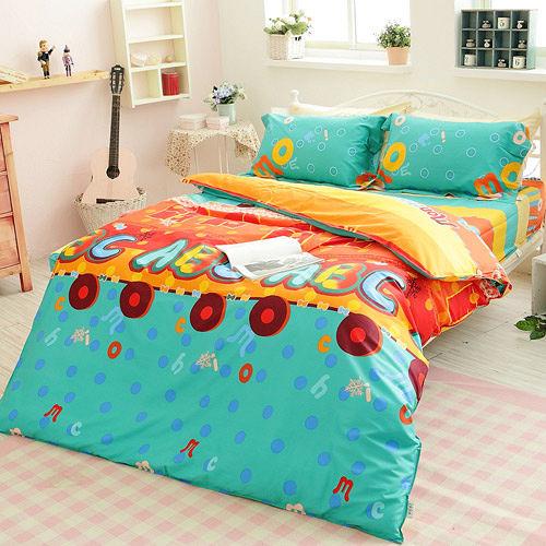 提案~趣 ~雙人四件式活性印染純棉兩用被床包組