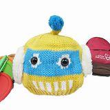 【iSFun】可愛機器人*俏皮毛線護耳帽/黃底藍