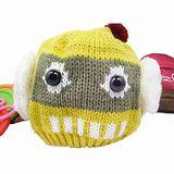 【iSFun】可愛機器人*俏皮毛線護耳帽/黃底綠