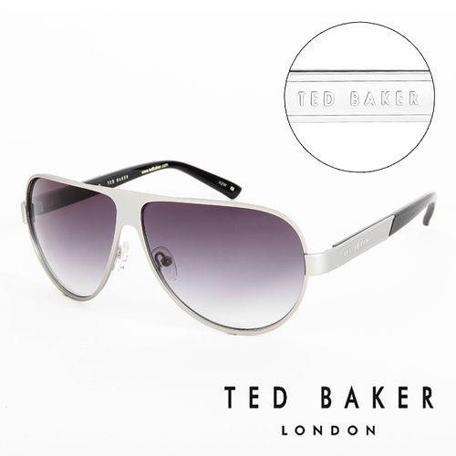 TED BAKER 倫敦 復古質感造型太陽眼鏡(銀) TB1240821