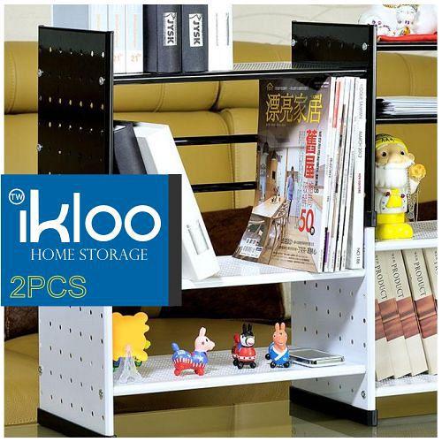 N 整理收納 IKLOO 貴族風組合式書架(黑)OA125 - 二入裝-9682