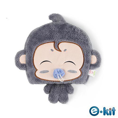 逸奇e-Kit 冬天保暖用品 可愛小猴子 保暖滑鼠墊 可拆洗 UW-MS30 (灰色)